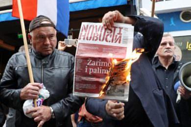 Линта: Паљење листа Новости у Загребу позив на линч преосталих Срба у Хрватској