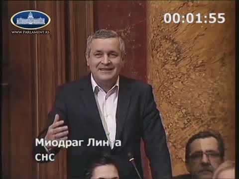 Миодраг Линтa у Скупштини Србије тражи да се крајишким Србима призна ратни стаж 1991-1995
