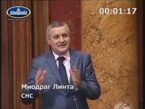 Миодраг Линтa у Скупштини Србије о отимању српске земље у Хрватској