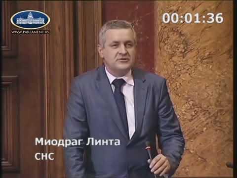 Миодраг Линтa у Скупштини Србије о преко 10 000 минираних српских кућа и локала