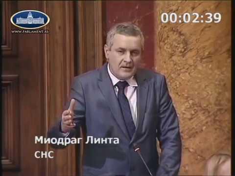 Миодраг Линтa у Скупштини Србије позвао Србе да пријаве своја права на некретнине у …