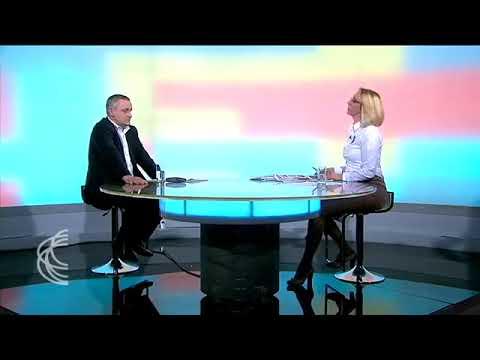 """Миодраг Линтa у емисији """"Србија на вези"""" која се емитује на сателитском програму РТС-а"""