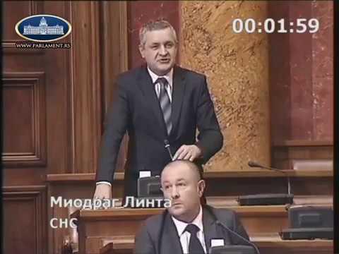 Миодраг Линтa у Скупштини Србије o доспјелим а неисплаћеним пензијама 50000 …