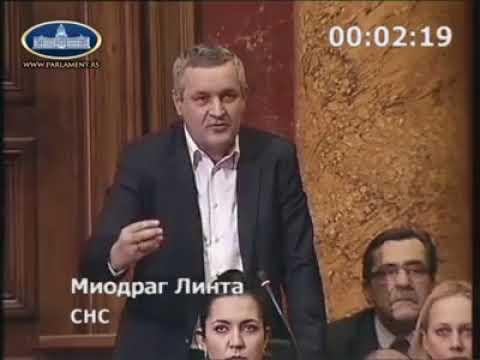 Миодраг Линтa у Скупштини Србије још једном позвао Србе да пријаве своја права на некретнине