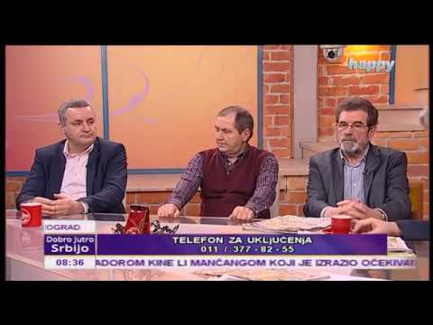 Савo Штрбац, Светозар Вујачић и Миодраг Линта у Јутарњем програму ТВ Хепи
