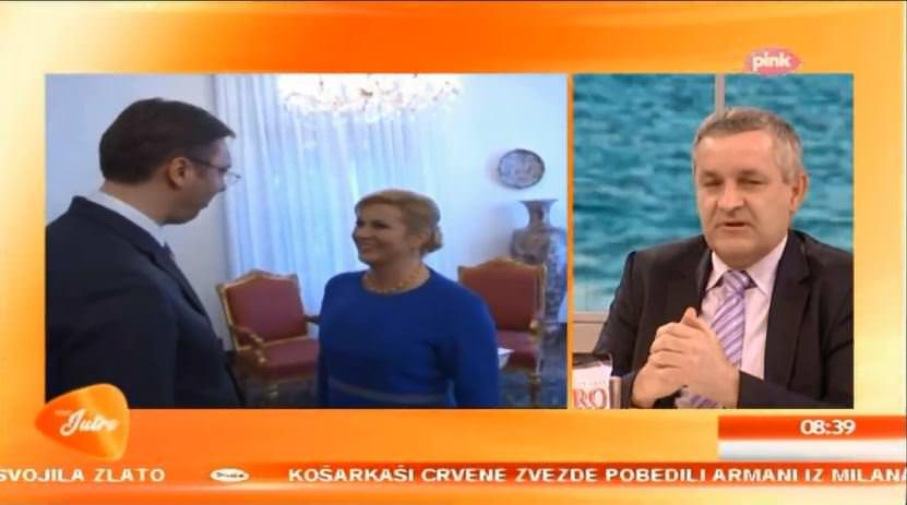 Линта и Крстић на ТВ Пинк поводом посјете предсједника Вучића Хрватској