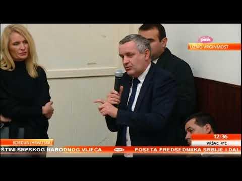 Говор Миодрага Линте у Вргинмосту у присуству предсједника Вучића о бројним проблемима