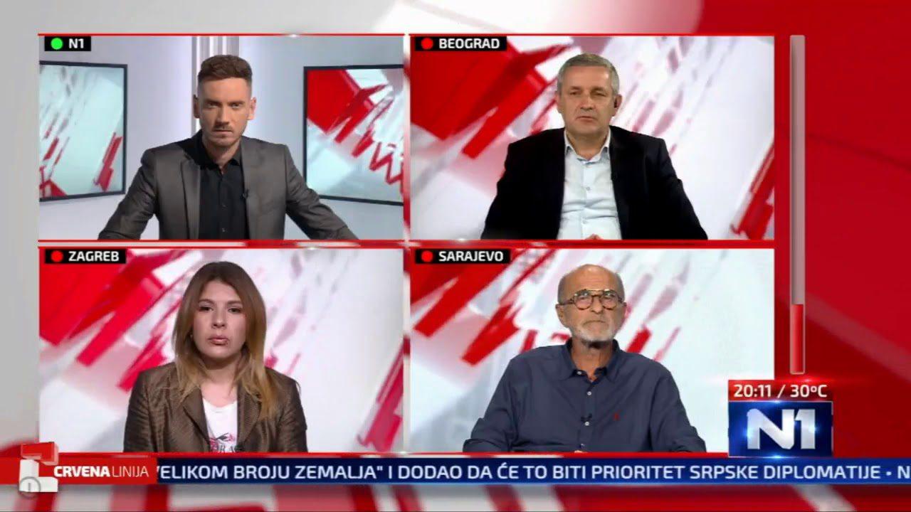 Миодраг Линта у емисији ЦРВЕНА ЛИНИЈА на ТВ Н1 на тему на отимању имовине