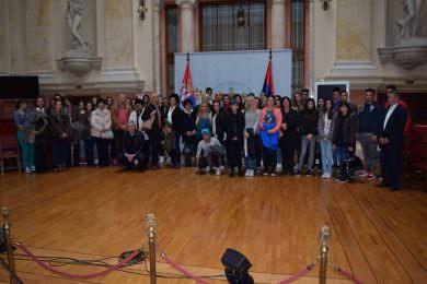 Српски ђаци из Белог Манастира на излету у престоници Србије
