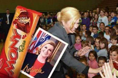Линта: Скандалозна изјава Грабар Китаровић да je разочарана јер су се у пакетићима нашле и српске чоколадице