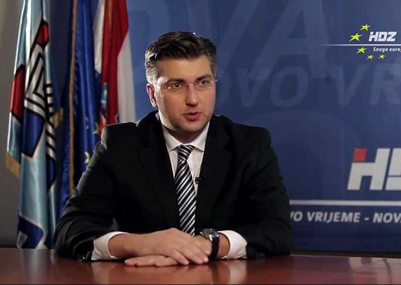 F - Andrej Plenkovic HDZ