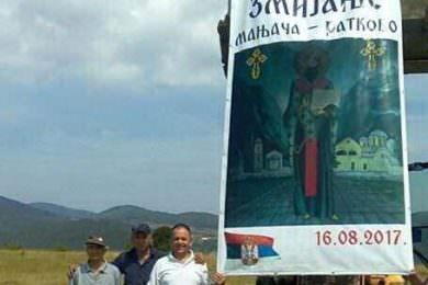 Подизање Часног Крста висине 20 метара у срцу Мањаче на Равном Брду у Раткову