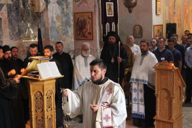 Вечерње богослужење у манастиру Крупа уочи обиљежавања 700 година постојања
