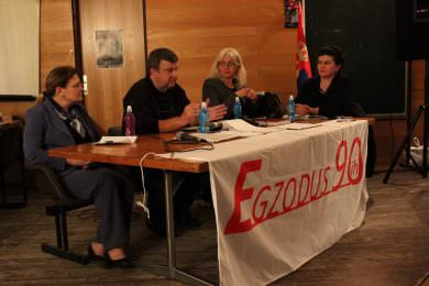"""Удружење """"Eгзодус 90-их"""" из Београда организовало је трибину на тему расподеле станова у насељима Oвча и Kамендин"""