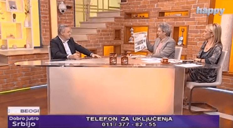 Миодраг Линтa у Јутарњем програму ТВ Хепи поводом лажне приче о српској агресији