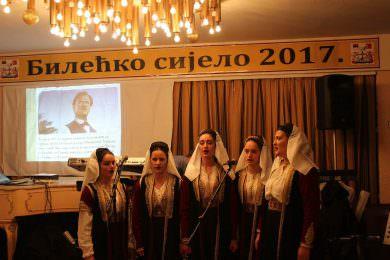 У организацији Завичајног клуба Билећана у ресторану Дома војске у Београду, 1. децембра је одржано Пето Билећко сијело