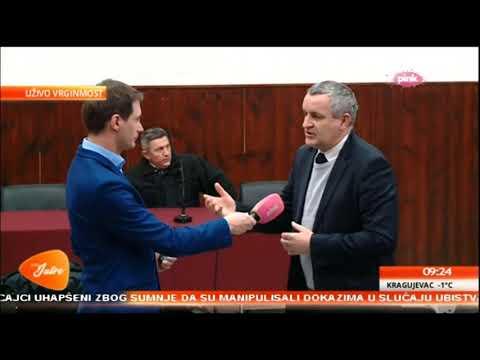 Миодраг Линта уживо на ТВ Пинк из мјеста Вргинмост о бројним проблемима Срба