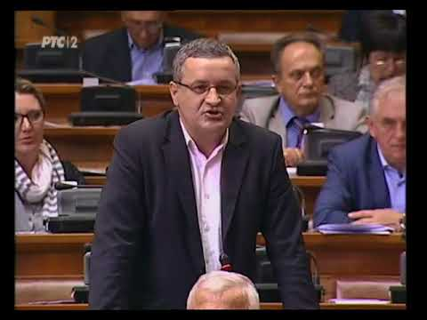 Миодрага Линте у Скупштини Србије поводом некажњавања ратних злочина над Србима у БиХ