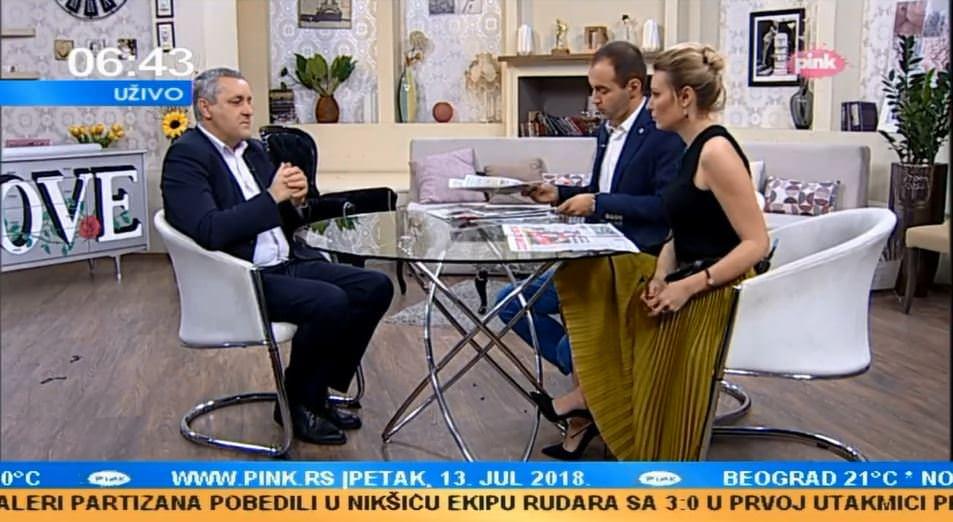 Линта у Јутарњем програму ТВ Пинк говорио о ратнохушкачкој изјави Насера Орића