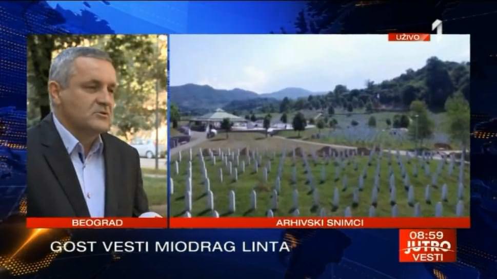 Линта гостовао на ТВ Прва поводом лажне тезе о геноциду у Сребреници и пресуде капетану Драгану
