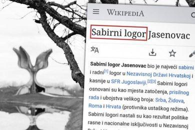 Линта: Хрватска википедија фабрику смрти Јасеновац представила као сабирни и радни центар