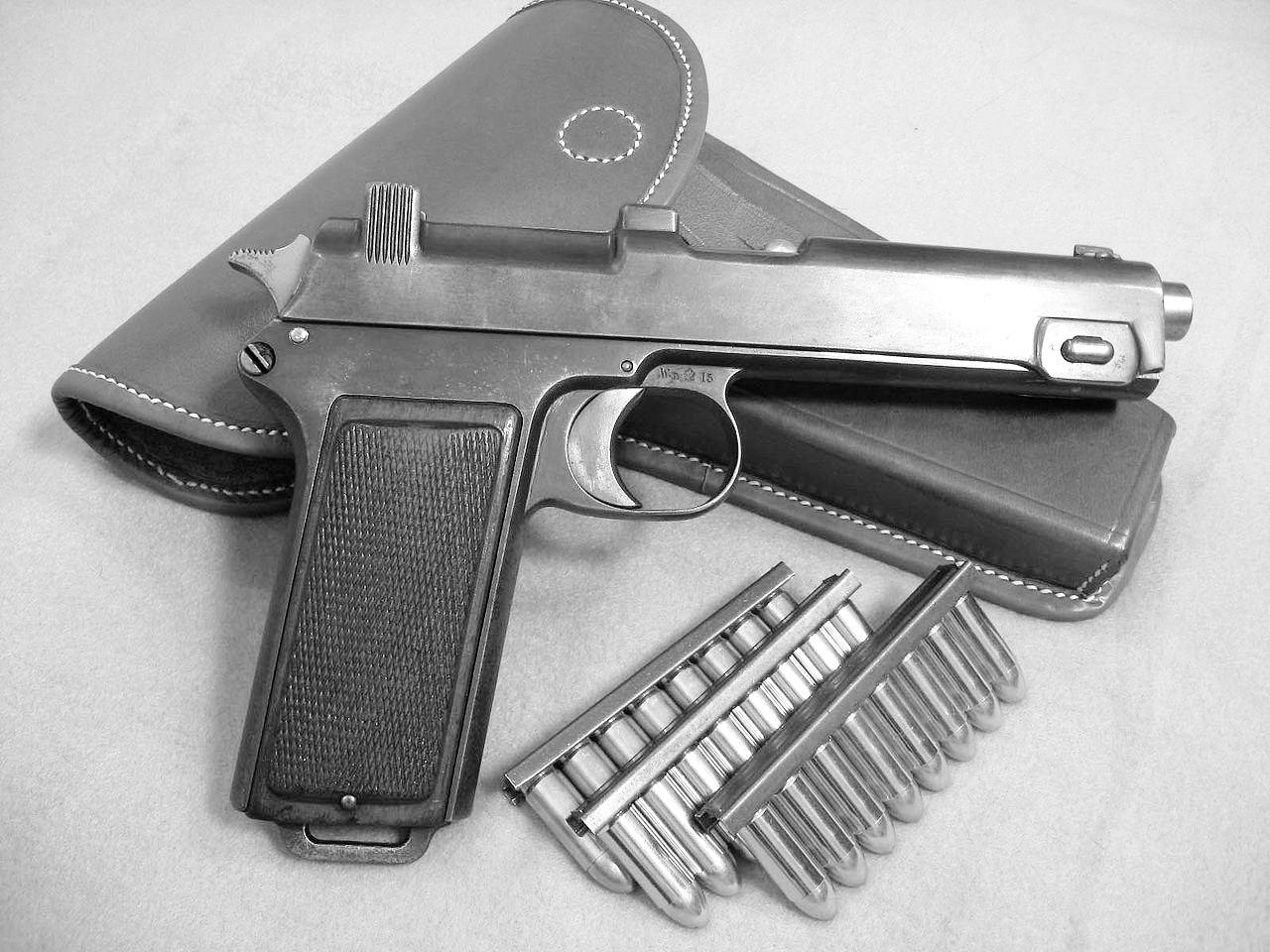 Pištolj Štajer M1912 iz kakvog je Žikica Jovanović pucao u Beloj Crkvi.