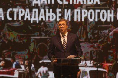"""ВУЧИЋ НА ОБИЉЕЖАВАЊУ """"ОЛУЈЕ"""": Србија можда и може да постоји без Крајине, али без Крајишника НИКАДА"""